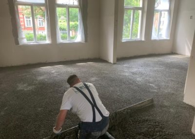 Renovation d'une maison – chauffage au Sol 30mm